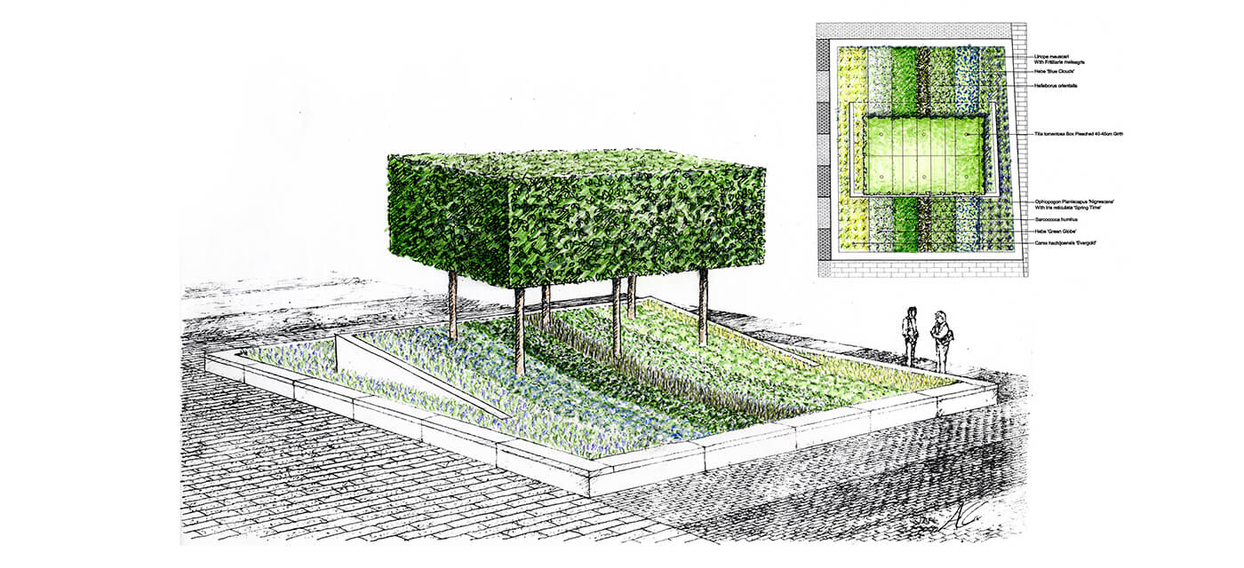 Planting plan for Battersea Reach