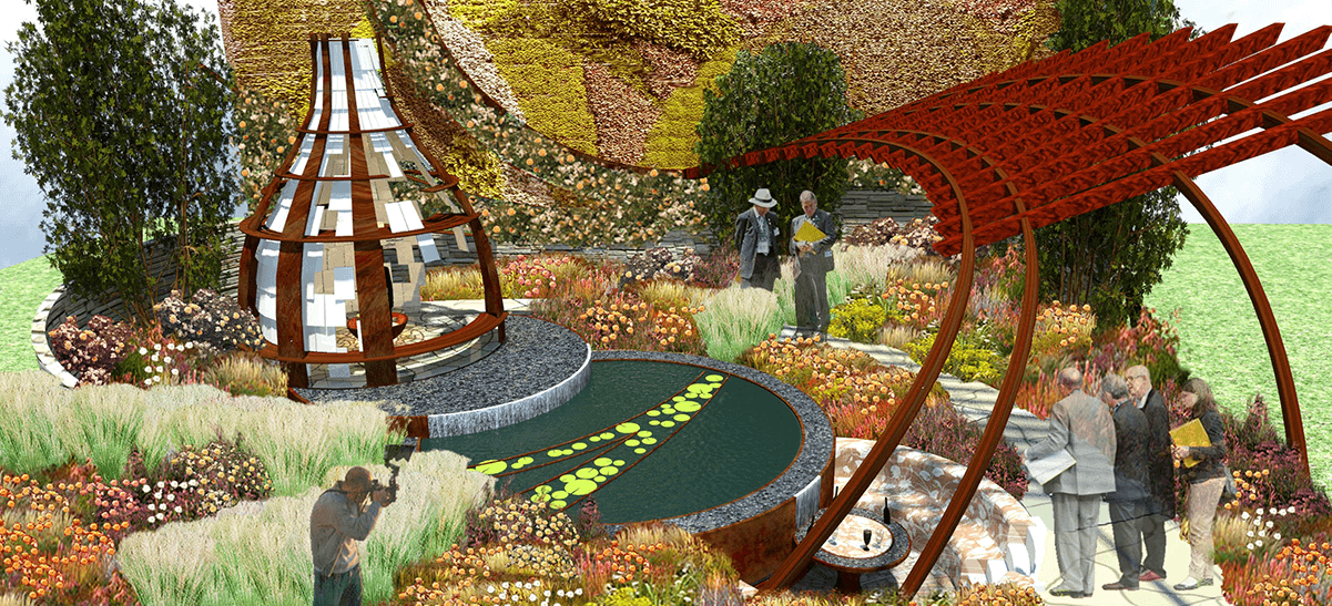 We were tasked with bringing the ambitious garden design concept to reality