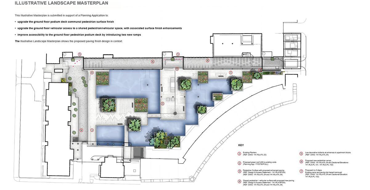 Masterplan prepared by Refolo Landscape Architects